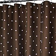 Chocolate Polka dot Curtain