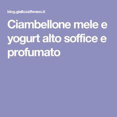 Ciambellone mele e yogurt alto soffice e profumato