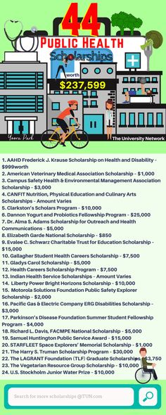 Here is a selection of Public Health Scholarships on TUN!