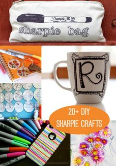33 Cool Sharpie Crafts and DIY Project IdeasThese are not your average Sharpie Crafts ideas! DIY some surprisingly cool projects with only a sharpie. Get a few sharpies in different colors and you will be Fun Craft, Crafty Craft, Cute Crafts, Crafts To Do, Creative Crafts, Arts And Crafts, Crafting, Fun Diy, Decor Crafts