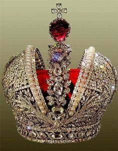 The great Imperial crown Jeremie Pauzier - jeweler at the court of Empress Elizabeth and Empress Catherine the Great of Russia XVIII th