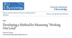 Dennis Pearce's  dissertation on working out loud http://uknowledge.uky.edu/cgi/viewcontent.cgi?article=1003&context=finance_etds