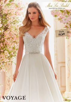 Shop Morilee's Classic V-Neck Wedding Dress Featuring a Delicately Beaded and Embroidered Bodice and Organza Skirt. Wedding Dresses and Bridal Gowns by Morilee designed by Madeline Gardner. Delicately Beaded Embroidery on Organza Wedding Dress Mori Lee Wedding Dress, V Neck Wedding Dress, Luxury Wedding Dress, Modest Wedding Dresses, Designer Wedding Dresses, Bridal Dresses, Prom Dress, Wedding Gowns, Dresses Dresses