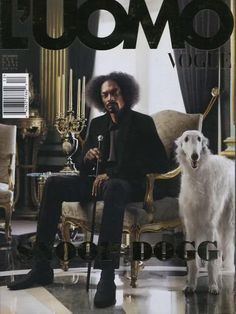 """Snoop Dogg with a Borzoi two of my favorite """"Doggs"""" in the same pic!"""