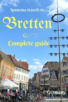 Bretten is a small charming town in Germany with a beautiful market square surrounded by half-timbered houses. Travel in Europe.
