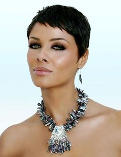 Short pixie haircuts for black women 2013