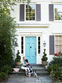 Gorgeous blue front door