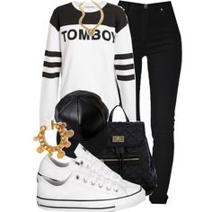 A fashion look from October 2013 featuring panel shirts, high waisted black skinny jeans and converse footwear. Browse and shop related looks.