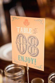 Vintage table number design. Lauren Okura.
