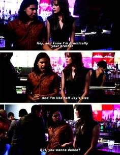 """""""I know I'm practically your brother but, you wanna dance?"""" - Cisco and Caitlin #TheFlash"""