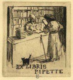 Ex-libris Pipette (1914), par Armand Rassenfosse