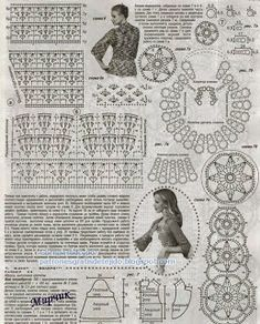 Bolero de exquisito diseño | Crochet y Dos agujas