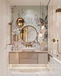 """Design Homes Only on Instagram: """"Your thoughts about this bathroom design?❤️💕☺️ 🛑Follow @designhomesonly for more 🏡 🛑Tag someone who might like this 👥 🛑Turn on post…"""" Apartment Bathroom Design, Bathroom Design Luxury, Home Room Design, Home Interior Design, House Design, Design Homes, Interior Design Inspiration, Bathroom Inspiration, Furniture Inspiration"""