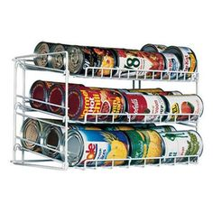 Keep your pantry and cabinets clutter free with a canrack by Atlantic. Holding up to 30 cans allows you to organize all your soups, tuna and canned fruits...