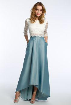 3/4 Sleeve Lace Hi-Low Dress #camillelavie #CLVprom