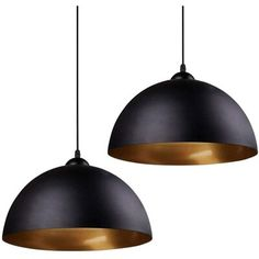 "Corrigan Studio® This pendant light can decorate your rooms into vintage style and break out that boring and dull life. | Corrigan Studio® Girard 1 - Light Single Dome Pendant, Metal in Black, Size Small ( 7"" - 11"" wide) 