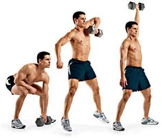 The dumbbell snatch is one of THE most intense moves.  It activates everything from the arms and shoulders to the butt and abs, all while TORCHING fat. They're killer, but they're potent.