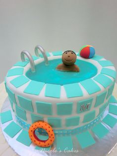 Swimming Pool Cake Ideas swimming pool cake Swimming Pool Birthday Cake