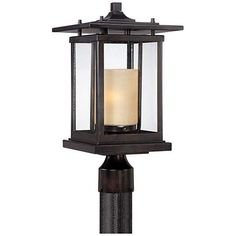 "Foxmoore Collection 17"" High Bronze Outdoor Post Light - #3H785 