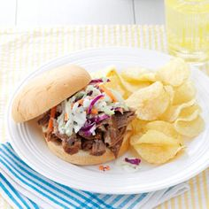 """Carolina Style Pork Barbque --- If you have never tasted this type of BBQ, you are in for a delicious treat.  It's unlike """"tomato"""" based bbq.  I like it as much if not more than """"traditional"""" Northern Style-tomato based  BBQ.  Be sure to have the Cole Slaw and chips as side dishes!!"""