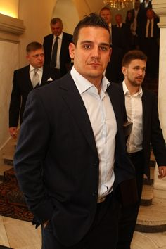 Branko Radivojevič <3 Slovak hockey player Hockey Players, Suit Jacket, Suits, Jackets, Fashion, Down Jackets, Moda, Fashion Styles, Suit