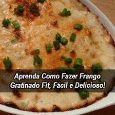 Procurando receitas saudáveis? Que tal este Frango Gratinado Fit que você pode comer no almoço ou jantar e servir até em uma ocasião especial.