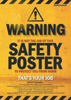 Australia's Largest and Cheapest Range of Quality Workplace Health and Safety Posters to promote Health & Safety Issues in your workplace. Safety Fail, Safety Week, Driving Safety, Safety First, Safety Games, Driving Memes, Safety Topics, Lab Safety, Food Safety