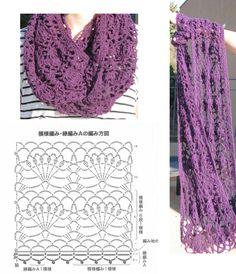 New crochet poncho shawl infinity scarfs Ideas Crochet Square Patterns, Crochet Chart, Crochet Patterns Amigurumi, Crochet Designs, Crochet Stitches, Knitting Patterns, Crochet Baby Beanie, Crochet Poncho, Crochet Scarves