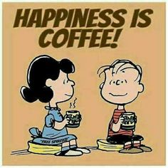 Coffee - The Peanuts - Lucy and Linus Coffee Is Life, I Love Coffee, Coffee Art, Coffee Cups, Coffee Beans, Happy Coffee, Charlie Brown Y Snoopy, Snoopy Love, Snoopy And Woodstock
