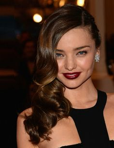 Berry lips like Miranda Kerr's are perfect for a winter wedding.