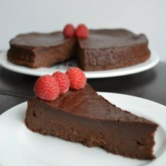 Flourless chocolate torte is the perfect dessert to finish any meal!