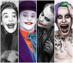 history of the live action joker- cesar romero, jack nicholson, heath ledger and now jared leto. you can go as far as you want but it won't be nearly as good as ledger's, r.i.p.
