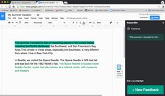 Within Google Docs, teachers can make verbal comments using the Kaizena Add-on to give deeper and more personal feedback. Students can better receive and understand feedback through audio, and they can even collaborate by responding through the Add-on, too.