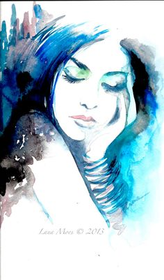 My new Original Watercolor Painting Fashion illustration