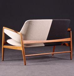 Ib Kofod-Larsen; Teak Sofa for Christensen & Larsen, 1952.