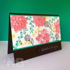 Made with stamps from the Nature's Perfection Stamp Set. Earn it FREE during Sale-A-Bration. Learn more at www.stampinup.com.