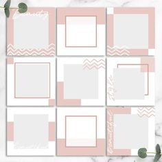 51 Best Ideas For Design Wallpaper Layout Instagram Feed Ideas Posts, Instagram Feed Layout, Instagram Grid, Instagram Design, Instagram Frame Template, Web Responsive, Web Design, Layout Design, Social Media Design