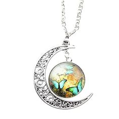* Penny Deals * - FOY-MALL Fashion Moon and Time Gem Pendant Necklace XL1231 ** Check out this great product.