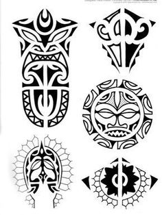 Maori Tattoo brings together more than 250 Polynesian and Maori style designs, first published in Tattoo Ideas, with some of the most amazing suggestions for tattoos to adorn your chest Maori Tattoos, Hawaiianisches Tattoo, Filipino Tattoos, Tattoo Signs, Marquesan Tattoos, Tattoo Motive, Samoan Tattoo, Tribal Tattoos, Borneo Tattoos