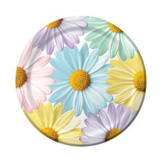 Brighten any celebration with these lovely Fresh Daisies Banquet Plates that evoke feelings of a wonderful spring day filled with sunshine and nature.  This functional plate features large daisy blossoms of beautiful pastel colors�pale pink, sky blue, soft lavender, yellow and mint green. Each daisy has a realistic bright yellow center. The generous sized 10 inch plate is perfect for any occasion: a joyous baby shower, a bridal shower, an Easter picnic or a Mother�s Day brunch.  This banquet…