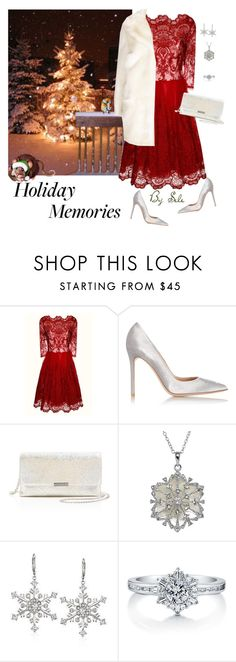 """""""holiday Memories"""" by selene-cinzia ❤ liked on Polyvore featuring Chi Chi, Gianvito Rossi, Loeffler Randall, Ross-Simons, BERRICLE, Limited Edition, women's clothing, women, female and woman"""