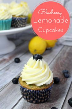 Blueberry Lemonade cupcake - Looking for a delicious cupcake recipe? Check out our Blueberry Lemonade Cupcake Recipe here!