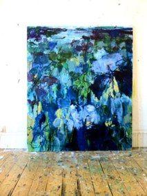 PG #1 Irises - I've Loved You So Long150x180 cm 4.92x5.91 ft mixed media on linen