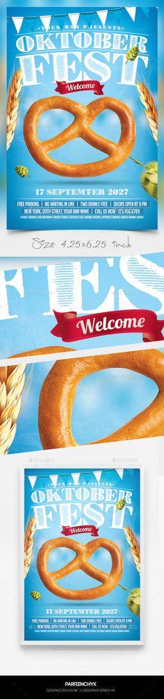 Oktoberfest Flyer Template PSD