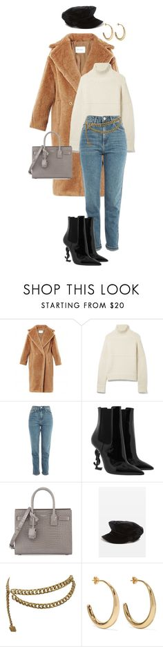 """Teddy Bear Coat"" by natteehh on Polyvore featuring Burberry, Topshop, Yves Saint Laurent, Chanel and Dinosaur Designs"