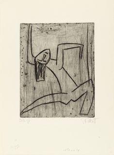 Dancer III   Karl Schmidt-Rottluff  (1922). Drypoint.