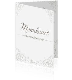 Mooie klassieke menukaarten zelf te maken. Snel en eenvoudig uw eigen menukaarten bestellen.