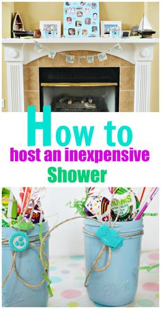 How to host an inexpensive shower, baby or bridal...you can never have too many different party ideas