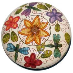Spring Floral Carved Box--Colors for Earth