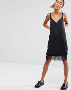 Изображение 4 из Платье-сорочка с кружевной отделкой First&I